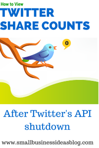 How to View Twitter Share Counts after Twitter's API Shutdown