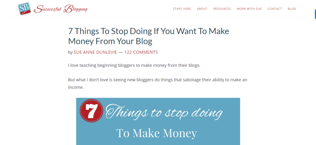 Successful Blogging - 122 comments