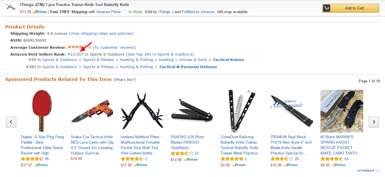 Amazon BSR - Butterfly Knife